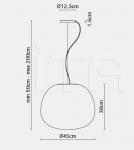 Подвесной светильник F07 Lumi - Mochi Fabbian