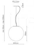 Подвесной светильник F07 Lumi - Sfera Fabbian