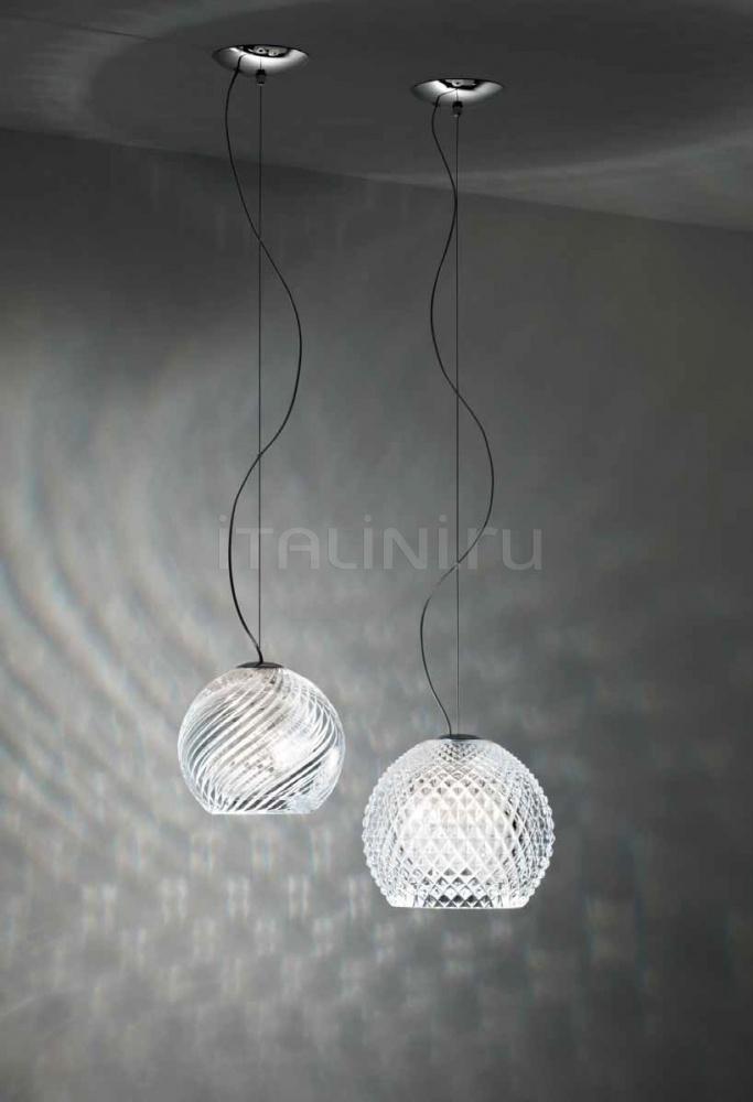 Подвесной светильник D82 Diamond & Swirl Fabbian