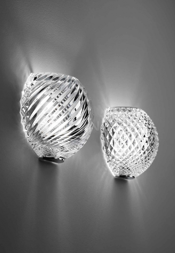 Настенный светильник D82 Diamond-Swirl D98/D99 Fabbian