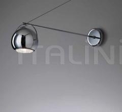 Настенный светильник D57 Beluga Steel D05 фабрика Fabbian