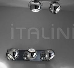 Настенный светильник D57 Beluga Steel G19/G21 фабрика Fabbian