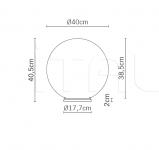 Настольный светильник F07 Lumi - Sfera Fabbian