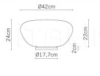 Настольный светильник F07 Lumi - Poga Fabbian