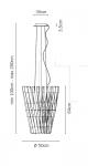 Подвесной светильник F23 Stick Fabbian