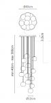 Подвесной светильник F07 Lumi - Mochi A29/A27A33 Fabbian