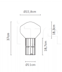 Настольный светильник F27 Aerostat Fabbian