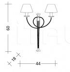 Настенный светильник ART. 809 Patrizia Garganti (Baga)