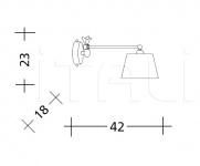 Настенный светильник  ART. 834/835 Patrizia Garganti (Baga)