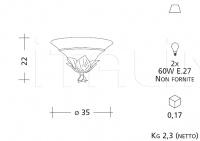 Настенный светильник ART 846 Patrizia Garganti (Baga)