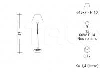 Настольный светильник ART. 727 Patrizia Garganti (Baga)