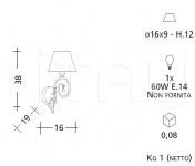 Настенный светильник 1141 Patrizia Garganti (Baga)