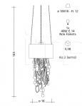 Подвесной светильник CR51 Patrizia Garganti (Baga)