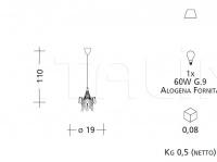 Подвесной светильник CR5 Patrizia Garganti (Baga)