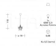 Подвесной светильник CR7 Patrizia Garganti (Baga)