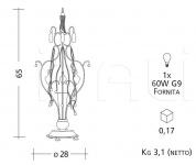 Подвесной светильник 2101 Patrizia Garganti (Baga)