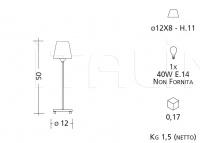 Настольный светильник 5044/5054/5064/5074 Patrizia Garganti (Baga)