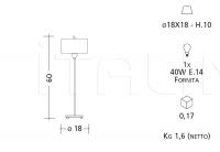 Настольный светильник 5123/5133/5143/5153 Patrizia Garganti (Baga)