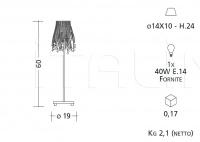 Настольный светильник 2081/2082/2083/2084 Patrizia Garganti (Baga)