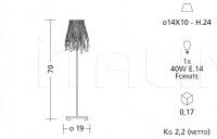 Настольный светильник 5003/5013/5023/5033 Patrizia Garganti (Baga)
