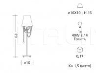 Настольный светильник 2059 Patrizia Garganti (Baga)