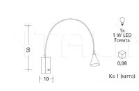 Настенный светильник 2141 Patrizia Garganti (Baga)