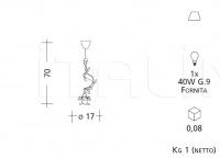 Подвесной светильник 1152 Patrizia Garganti (Baga)