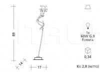 Настольный светильник 1173 Patrizia Garganti (Baga)