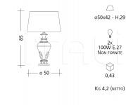 Настольный светильник CM540 Patrizia Garganti (Baga)