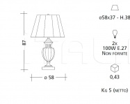 Настольный светильник CM519 Patrizia Garganti (Baga)