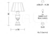 Настольный светильник CM506 Patrizia Garganti (Baga)