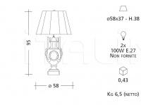 Настольный светильник CM507 Patrizia Garganti (Baga)