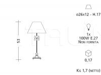 Настольный светильник 691 Patrizia Garganti (Baga)