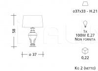 Настольный светильник CM518 Patrizia Garganti (Baga)