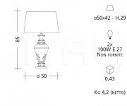 Настольный светильник CM539 Patrizia Garganti (Baga)