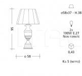Настольный светильник CM505 Patrizia Garganti (Baga)
