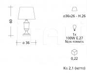 Настольный светильник CM551 Patrizia Garganti (Baga)