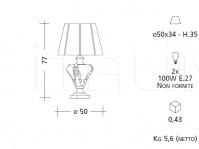 Настольный светильник CM538 Patrizia Garganti (Baga)