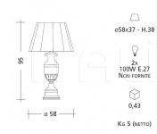 Настольный светильник CM504 Patrizia Garganti (Baga)