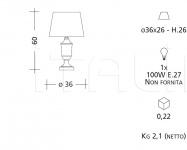 Настольный светильник CM511 Patrizia Garganti (Baga)