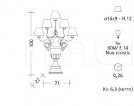 Настольный светильник CM498 Patrizia Garganti (Baga)
