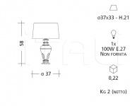 Настольный светильник CM544 Patrizia Garganti (Baga)
