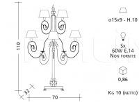Настольный светильник 1087 Patrizia Garganti (Baga)