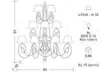 Настенный светильник 1082 Patrizia Garganti (Baga)