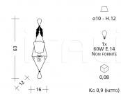 Настенный светильник 1002 Patrizia Garganti (Baga)
