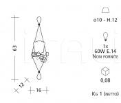 Настенный светильник 1008/BI Patrizia Garganti (Baga)