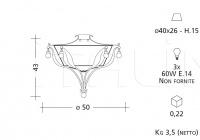 Потолочный светильник 1195 Patrizia Garganti (Baga)