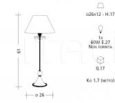 Настольный светильник 1011 Patrizia Garganti (Baga)
