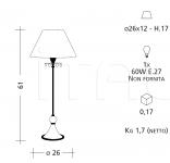 Настольный светильник 1012 Patrizia Garganti (Baga)