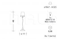 Настольный светильник 912 Patrizia Garganti (Baga)